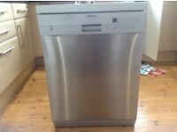 Siemens full size free standing dishwasher, silver in colour, excellent working condition