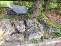 Rockery stone weathered limestone