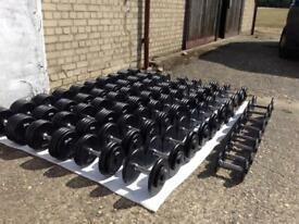 2.5-60kg Body Power Pro-Style Cast Iron Dumbbell Set (Delivery Available)