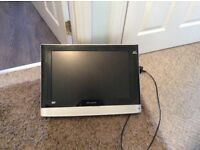 19inch black whafedale tv/combo with wall bracket (no stand) black