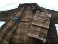 Barbour Classic Beaufort Wax Jacket & Cashmere Scarf