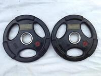 10 x 5kg Base Tri-Grip Rubber Olympic Weights