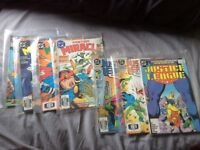 DC justice league and mister miracle comics