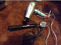 McAdam hair straightners and hair dryer