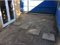 25 2ft square garden slabs free to who can collect