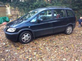 Vauxhall Zafira. 7 Seats