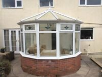 Very good condition white uPVC Conservatory