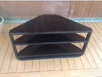TV table black frame/ glass