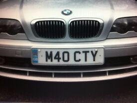 MANCHESTER CITY - PRIVATE NUMBER PLATE - M40 CTY - ON RETENTION - ALL TRANSFER FEES ARE PAID