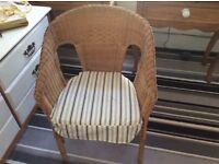 IKia wicker armchair with Lia cushion ex.con.£12