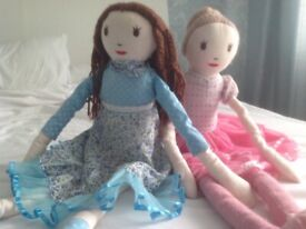 Large Ballet dancer rag doll over 30 inches long