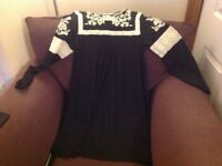 Topshop black dress with lace detail new size 12