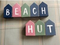 Small Wooden Beach Huts
