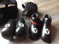 SMAC sparring kit with bag approx age 12