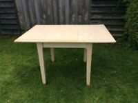 """DUCAL EXTENDING WOOD DINING TABLE. 3' X 3' EXTENDS TO 3' X 4'6"""" COLOUR CREAM, GOOD CONDITION"""