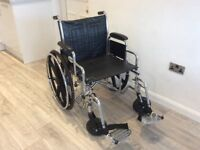 """Used heavy duty bariatric 22"""" wide self propelled Wheelchair by Drive"""