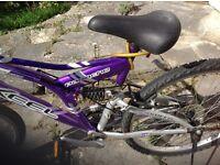 Ladies 21 gear mountain bike with half suspension