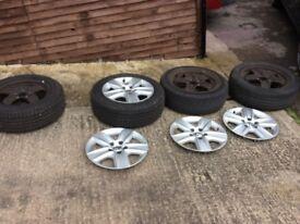 Vw golf mk6/mk5 wheels trims and tyres