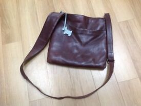 Radley brown leather cross body handbag