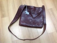 Radley brown leather cross body handbag