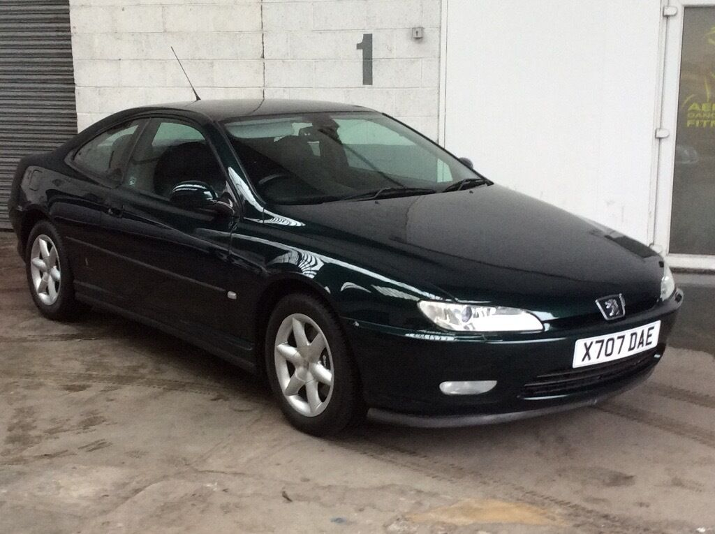 peugeot 406 coupe 3 0 v6 auto metallic green black leather demo plus 1 owner only 64 500 miles f. Black Bedroom Furniture Sets. Home Design Ideas