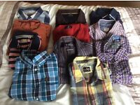 Men's shirts, t shirts and jumper. Large. 11 in total. Good quality.