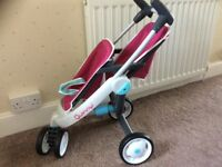 Dolls Quinny double pushchair.