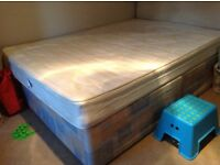One used Double divan bed base and two used double mattresses to collect