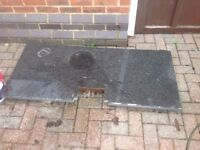 Black granite from kitchen clearance