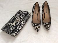 Dune shoes size 3 and matching bag