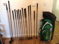 Nike Slingshot Golf Glubs, Ping G20 Driver 9.5, Golf Bag and Electric Trolley