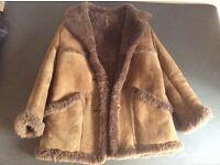 Ladies sheepskin jacket size 12