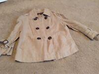 Ladies size 12 Warehouse beige linen jacket