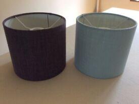 2x drum lamp shades 20cm diameter x 18cm high