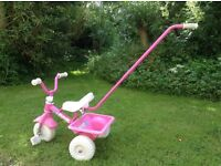 GIRL'S PINK RALEIGH TRIKE