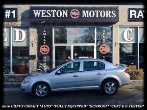 2010 Chevrolet Cobalt *AUTOMATIC *FULLY EQUIPPED *SUNROOF *CERT&