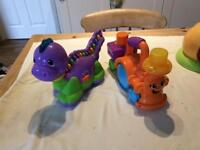 Leap frog dinosaur and fisher price train