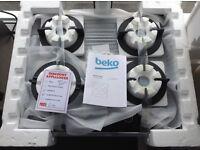 Beko 4 ring gas hob. RRP £329 12 month gtee
