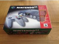 Boxed n64 console.