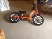 As new balance bike for sale. Orange in colour. German make cost £70 Aged 0-5