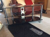 Black Glass TV Stand (for TV up to 50 inches)
