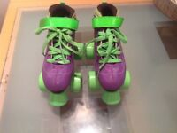 Skates, quads, purple vision get size 13