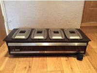 Philips Hostess Food Warmer complete with 4 Pyrex dishes and stainless Steel lids