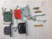 Several used locks with keys