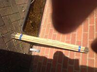 Set of drainage rods