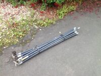14 heavy duty drainage rods and 2 attachments