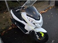 Honda PCX 125 - White - Serviced - SPY Remote Start and Pager Alarm