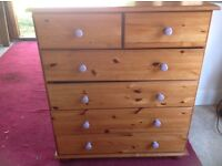 Aa Pine chest 6 drawer,,******RESERVED*********