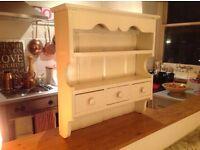 Vintage Kitchen Ivory Cream Wall Cabinet