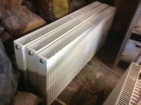 Secondhand double radiators - 3 * 1400 & 1 * 1600